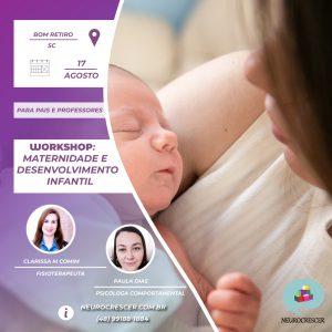 Banner Maternidade e desenvolvimento infantil