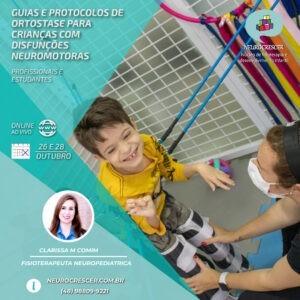 Capa curso Guias e protocolos de ortostase em crianças com disfunções neuromotoras